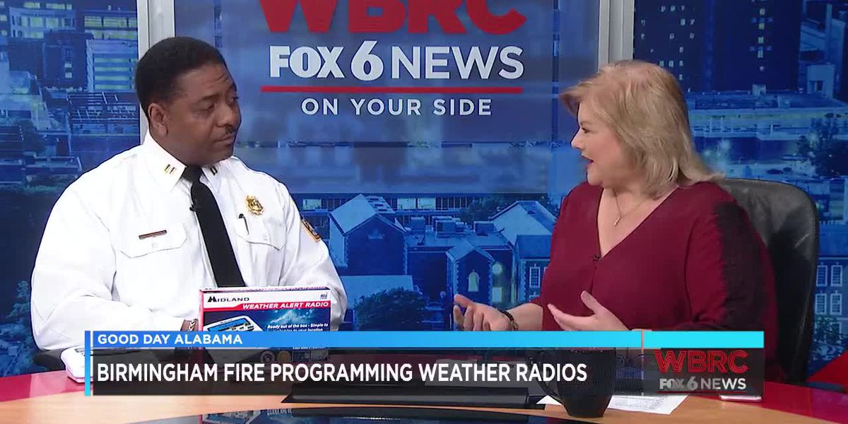 Birmingham Fire programming weather radios