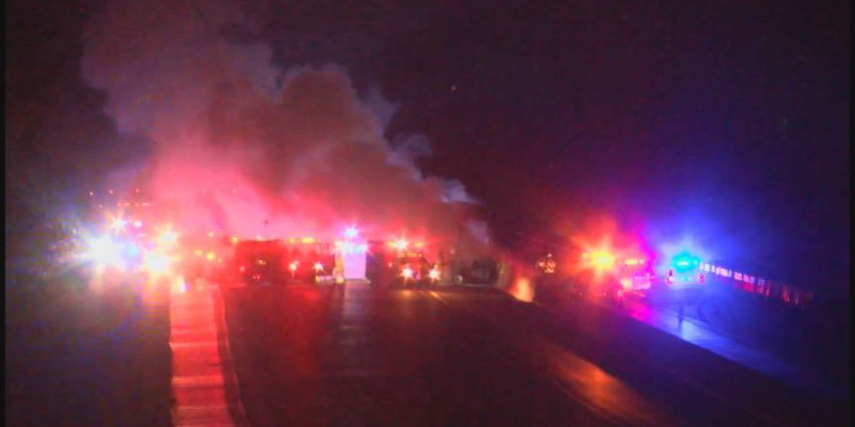 Truck fire shuts down I-459 in Hoover; Ronda Robinson is live at 5 a.m.