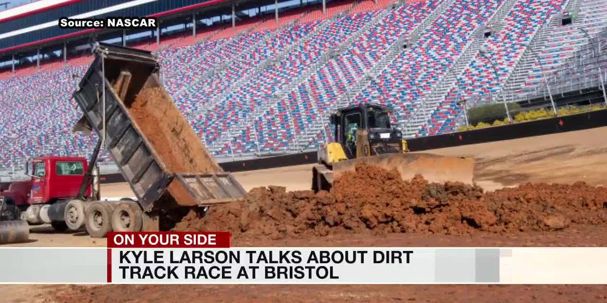 Kyle Larson talks about dirt trace race at Bristol