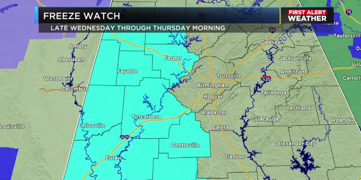 FIRST ALERT: Another cold, cloudy, and rainy setup for Wednesday
