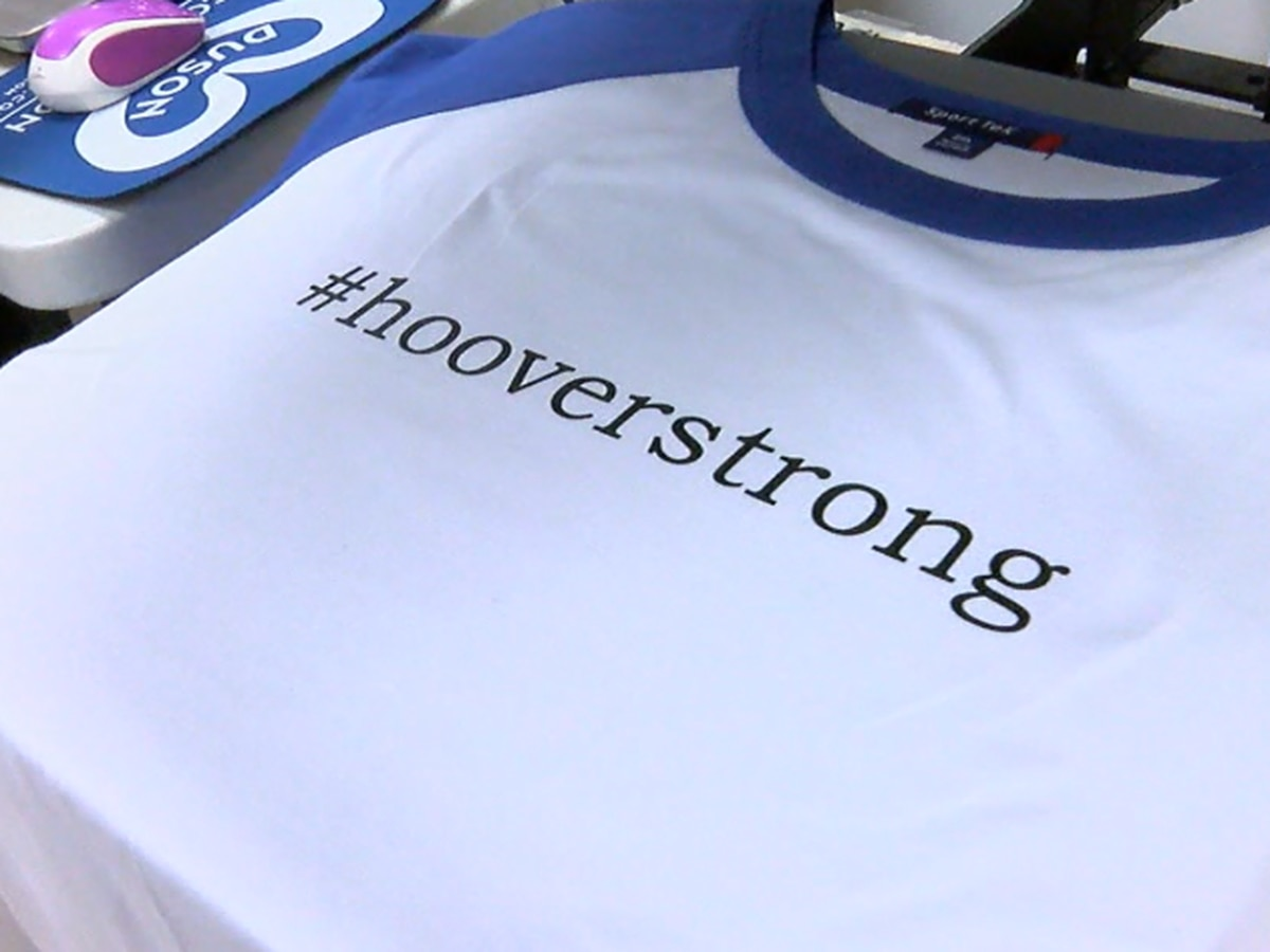 #HooverStrong shirts have raised more than $5,000 for police fund