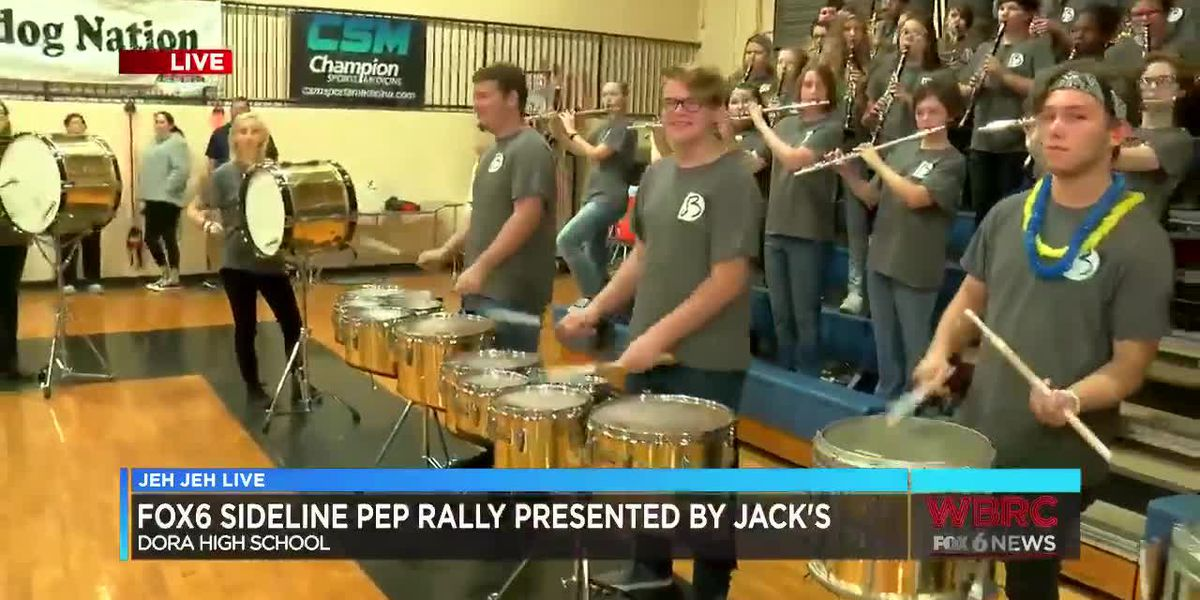 Jeh Jeh Live WBRC FOX6 News Sideline Pep Rally: Dora High School (Part 3)