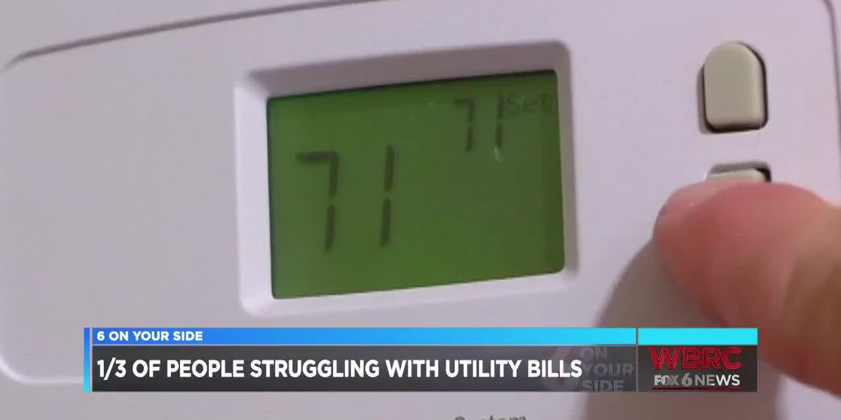 1/3 of people struggling with utility bills