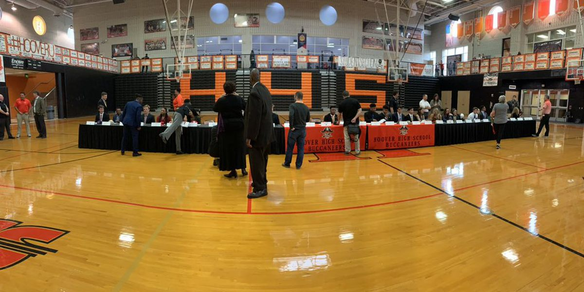 33 Hoover HS student-athletes sign scholarships