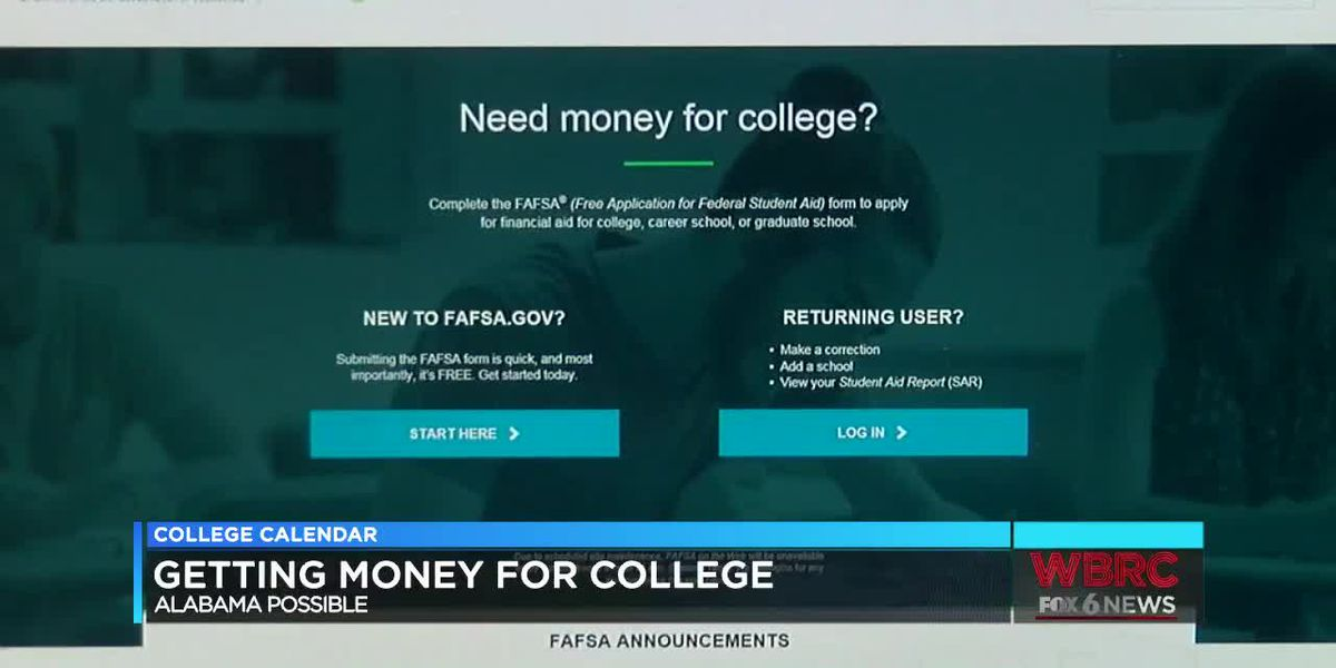 College calendar: getting money for school