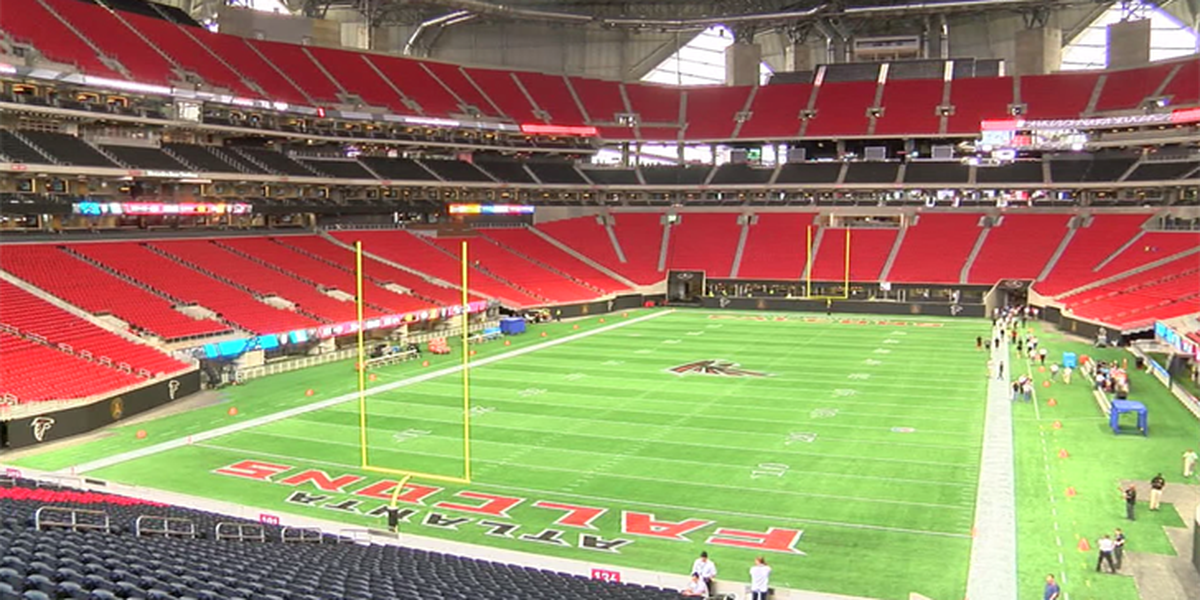 A look inside the Mercedes-Benz Stadium in Atlanta