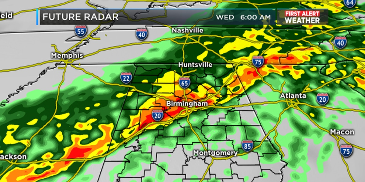 FIRST ALERT Update: Rain chances climb for Tuesday and Wednesday