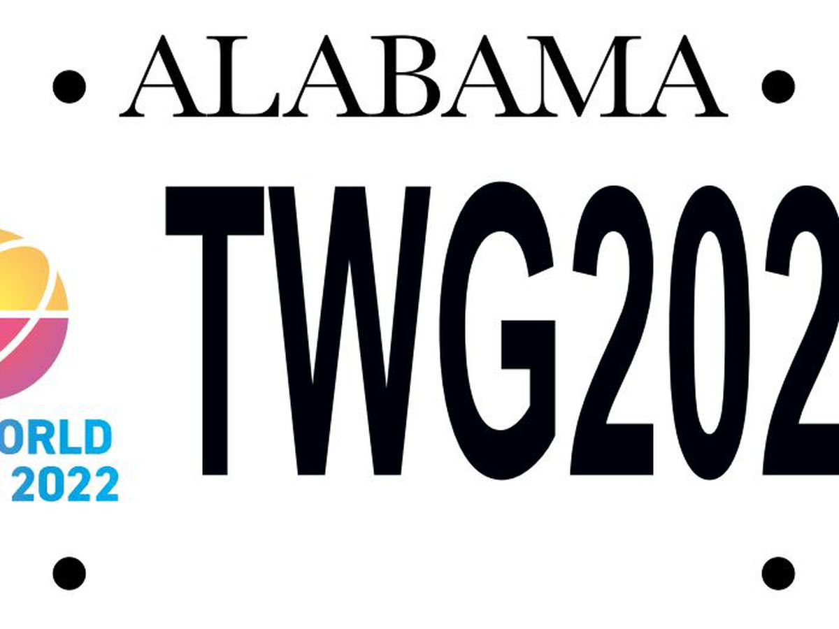 The World Games 2022 license plates available