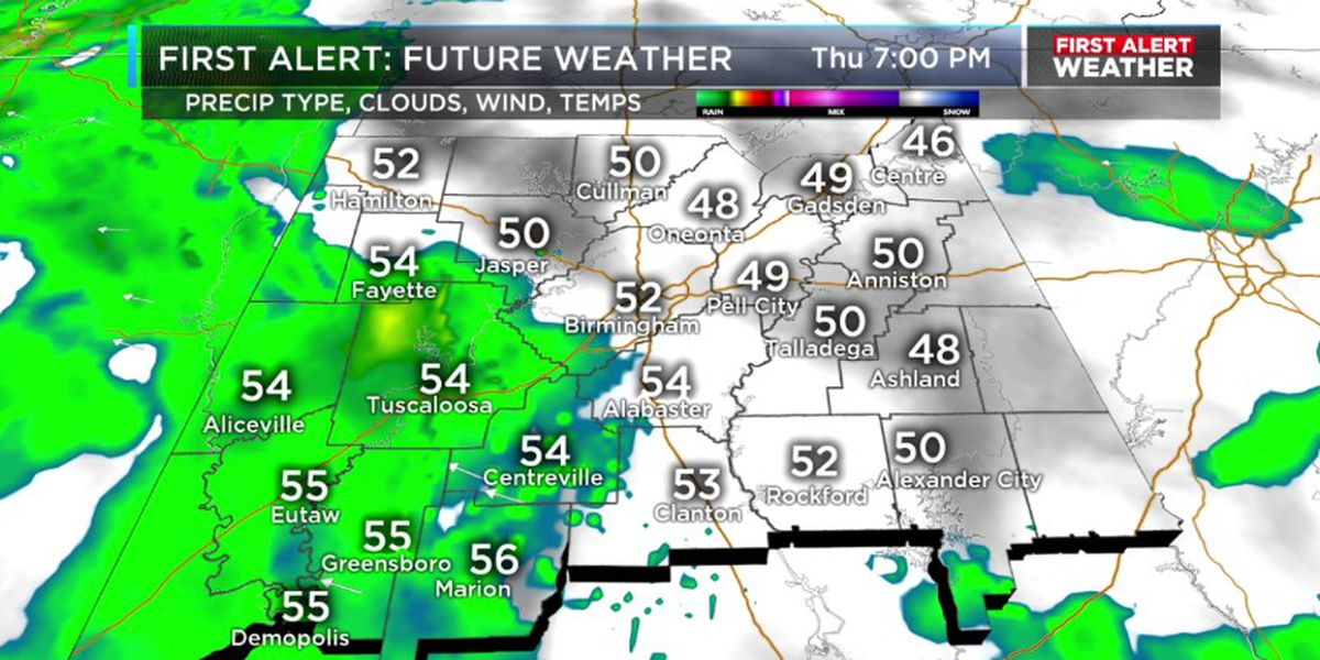 FIRST ALERT: Rain builds in from the southwest this evening