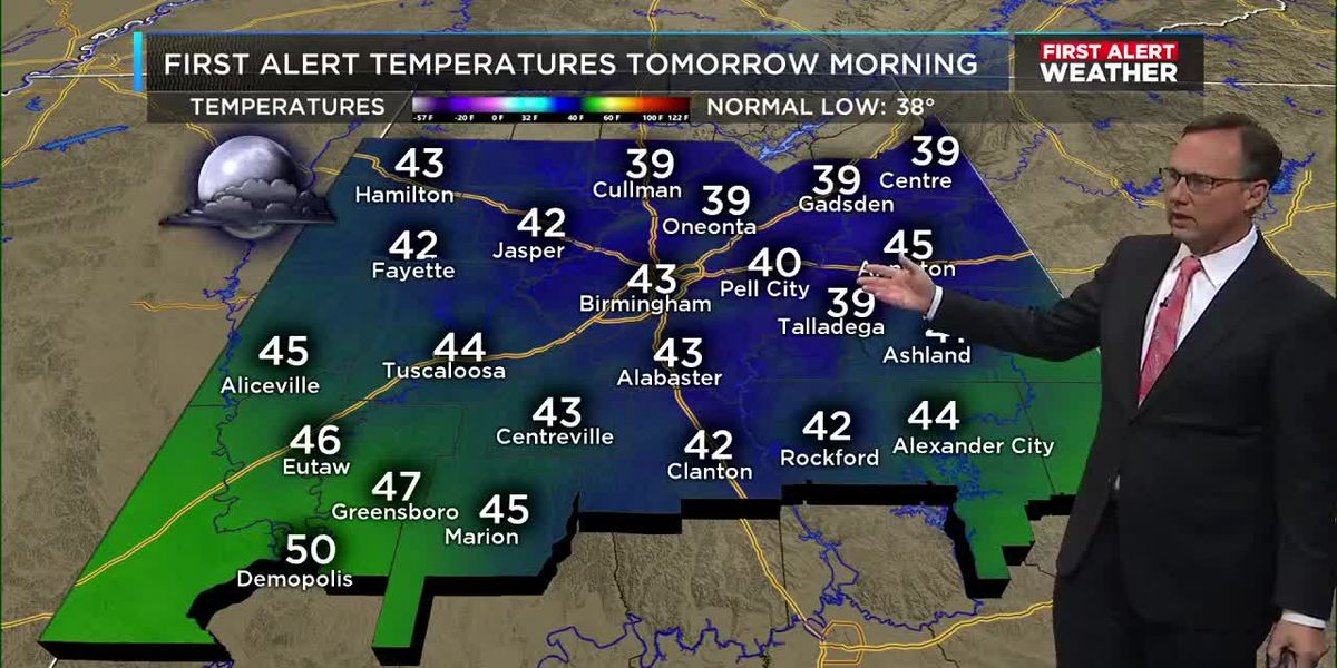 First Alert Weather: 5 p.m. update 12-6-19