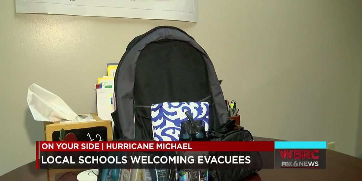 Local schools welcoming hurricane evacuees