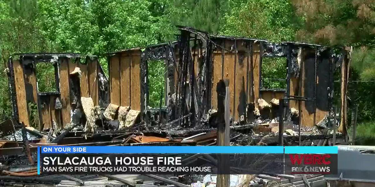 Man says road condition hindered efforts to fight fire that destroyed his son's home