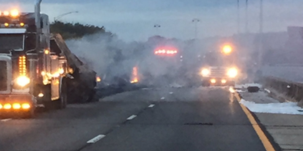 I-20/59 SB open after 18-wheeler fire in Fairfield