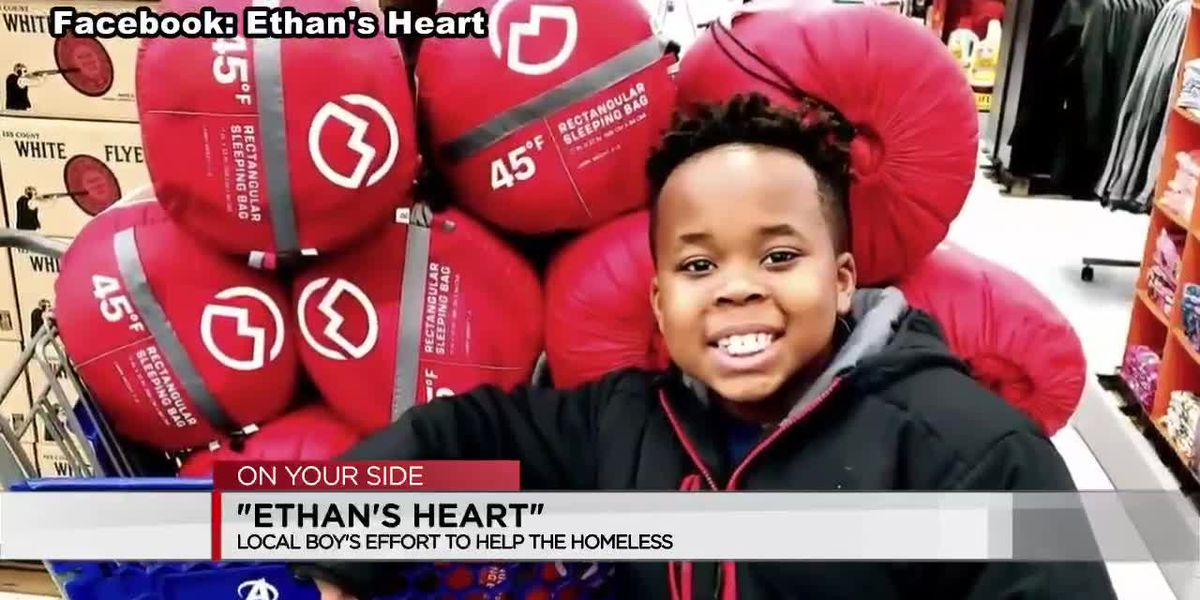 Ethan's Heart: Local boy provides care packages for homeless community