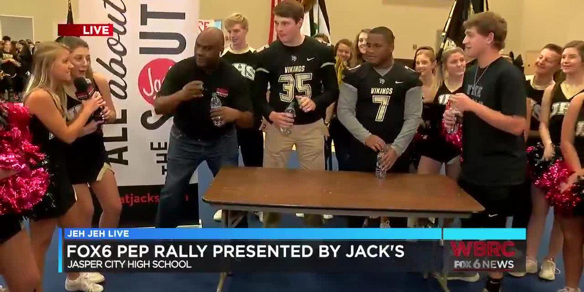 Jeh Jeh Live WBRC FOX6 News Sideline Pep Rally: Jasper City High School (Part 2)