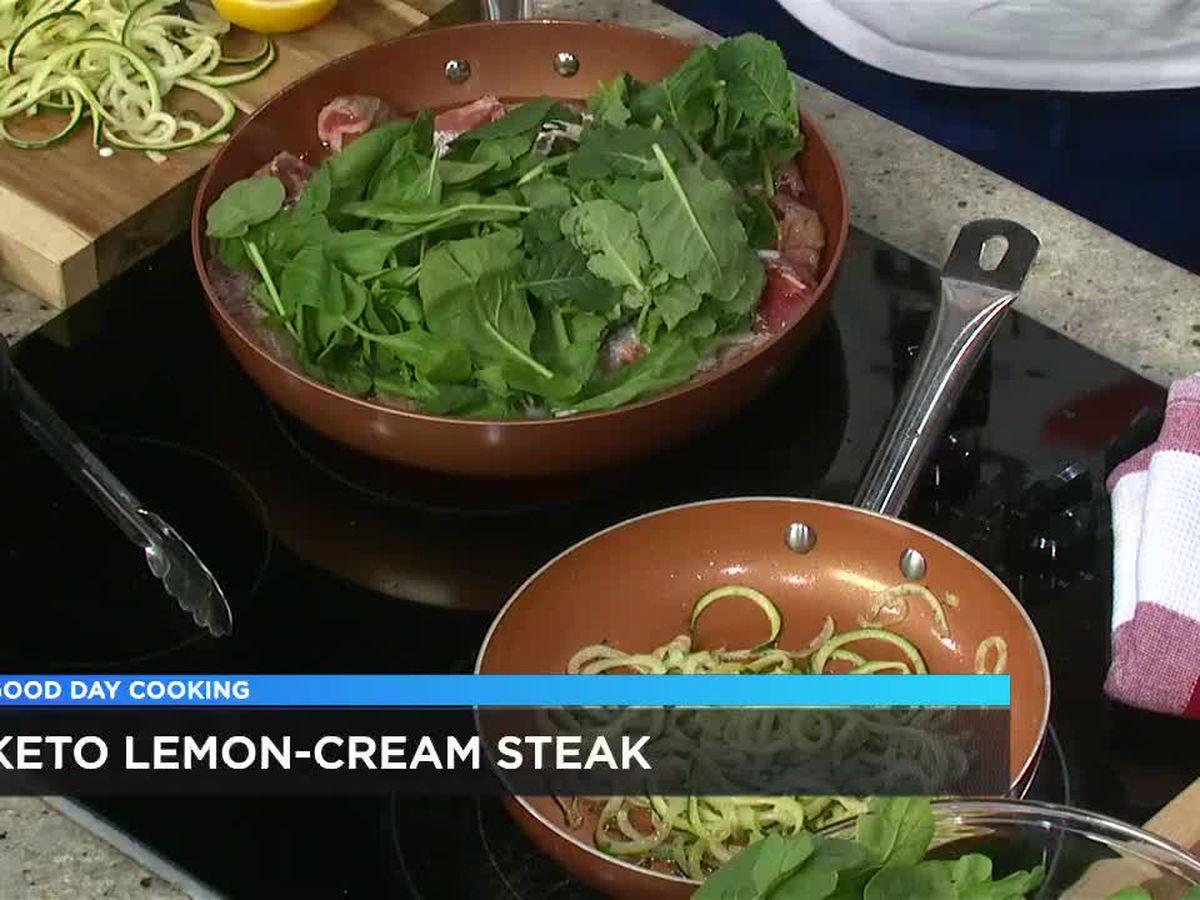 James Jones: Keto Lemon Cream Steak