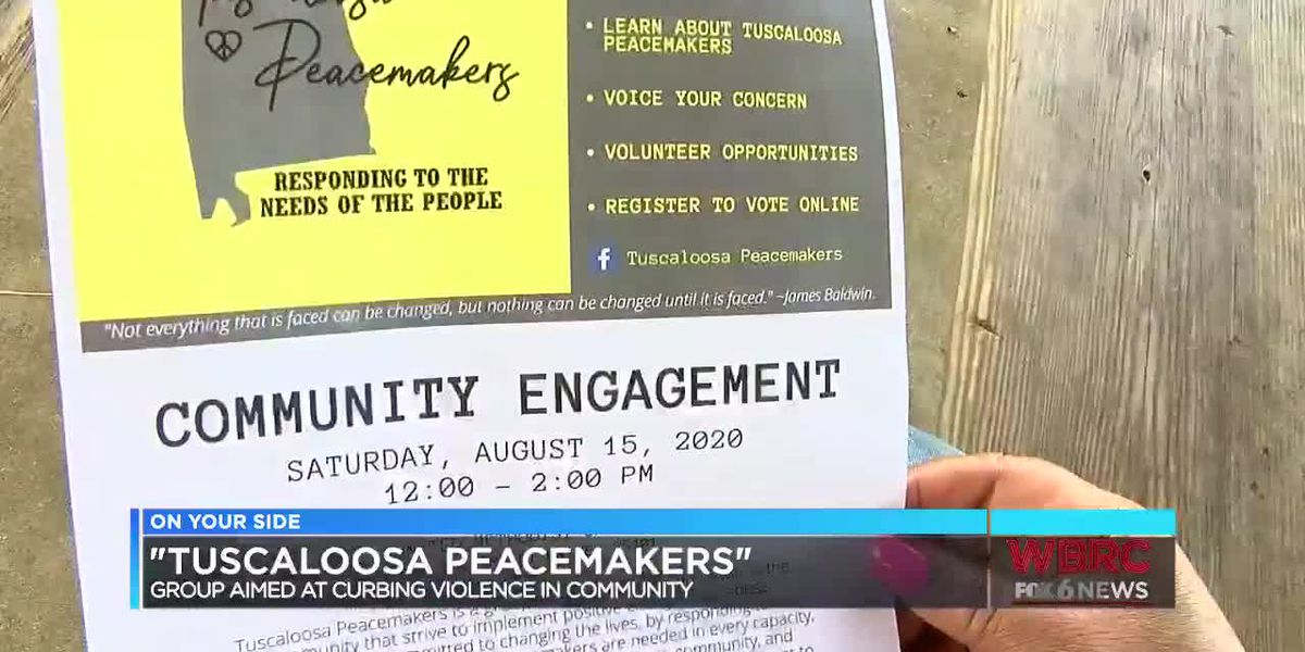 Tuscaloosa Peacemakers aim to curb violence in community