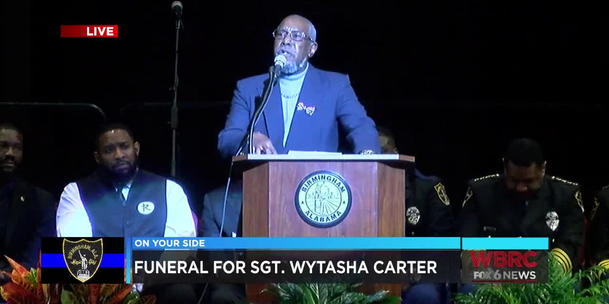 Remembering Sgt. Carter: Father of slain officer speaks at his son's funeral