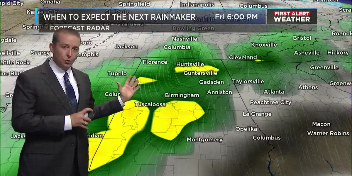 First Alert Weather: 5 p.m. update 11-18-19