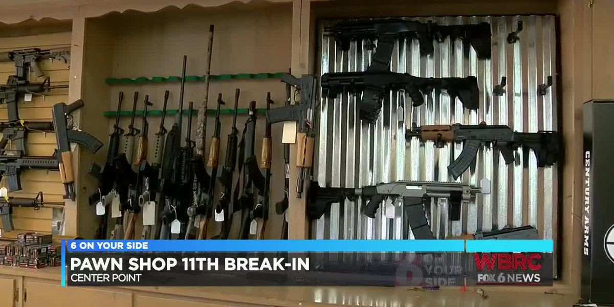 Center Point pawn shop's 11th break-in