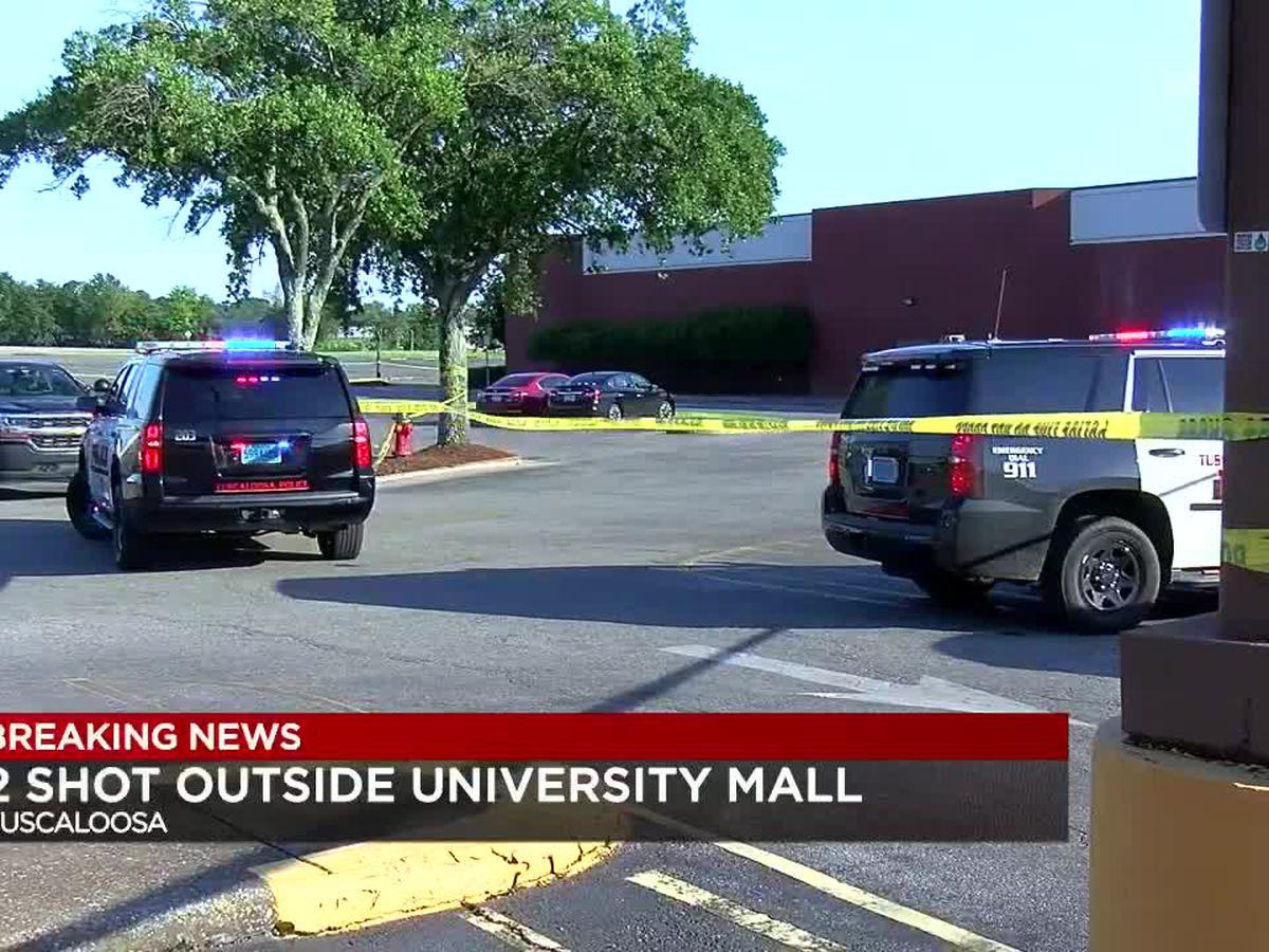 Tuscaloosa PD: Two people shot outside University Mall