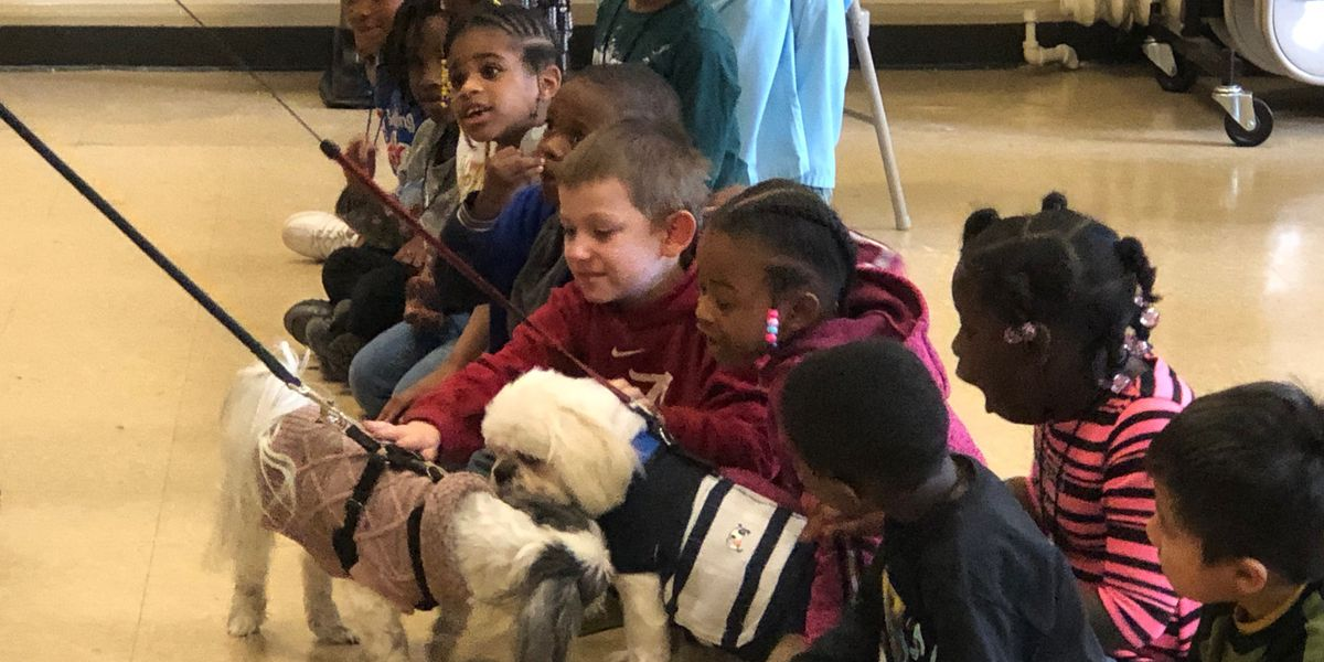 Barrett Elementary Students learn character lessons, with the help of some furry friends