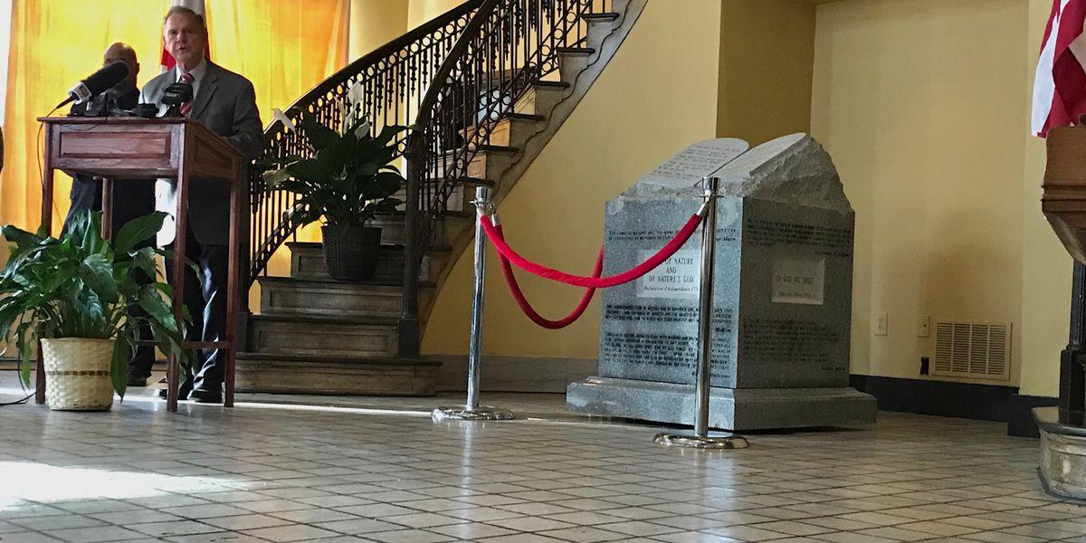 Ten Commandments monument returns to Montgomery