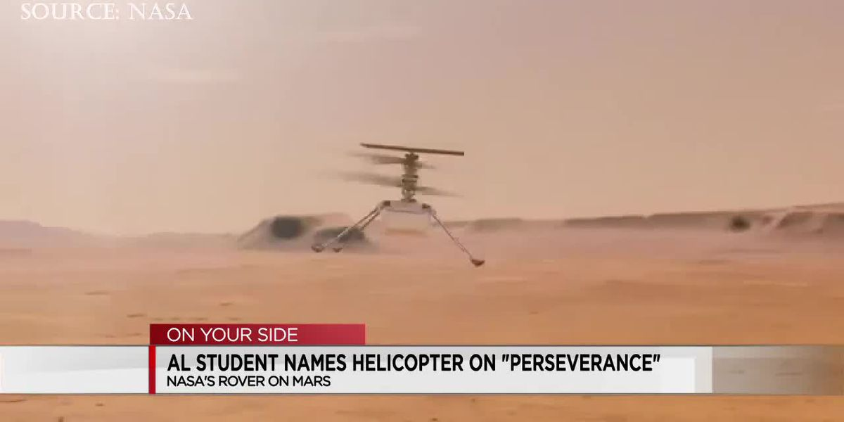 Ala. student names helicopter on Perseverance - NASA's Mars Rover