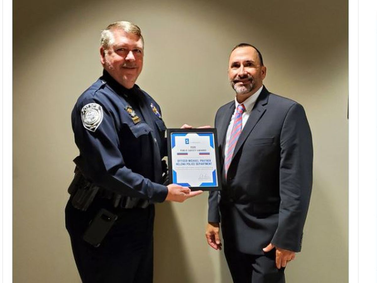 Life-saving Helena Police Officer honored as officer of the year