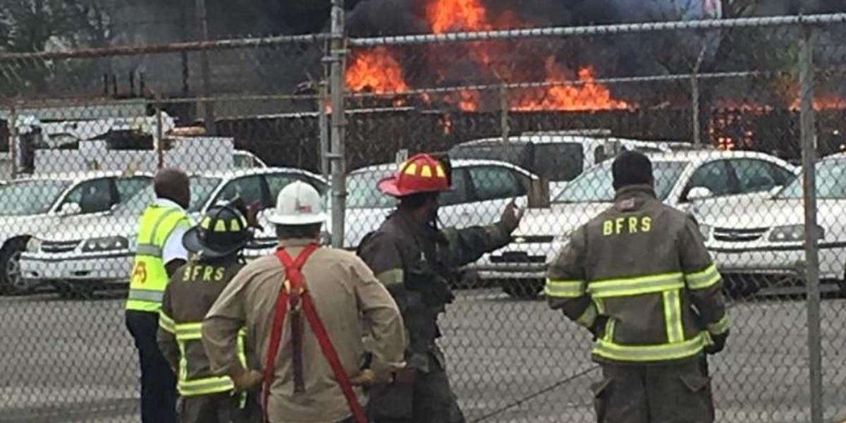 Fire crews battle huge blaze at Standard Iron and Metal in Birmingham