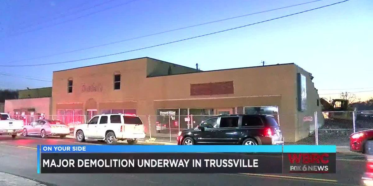 Rennovations taking place in downtown Trussville