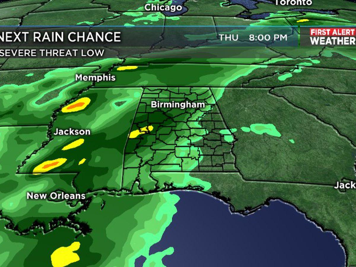 FIRST ALERT: Rain returns Thursday evening