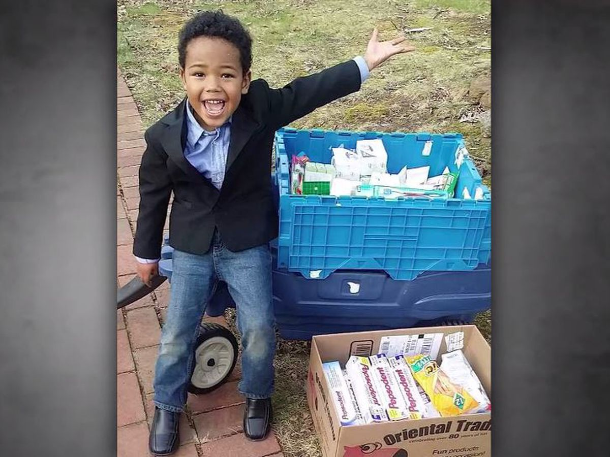 Boy, 8, raises more than $50K for homeless veterans over 4 years