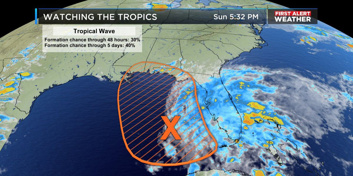 FIRST ALERT: Tropical development possible in Gulf; Rain chances on the rise