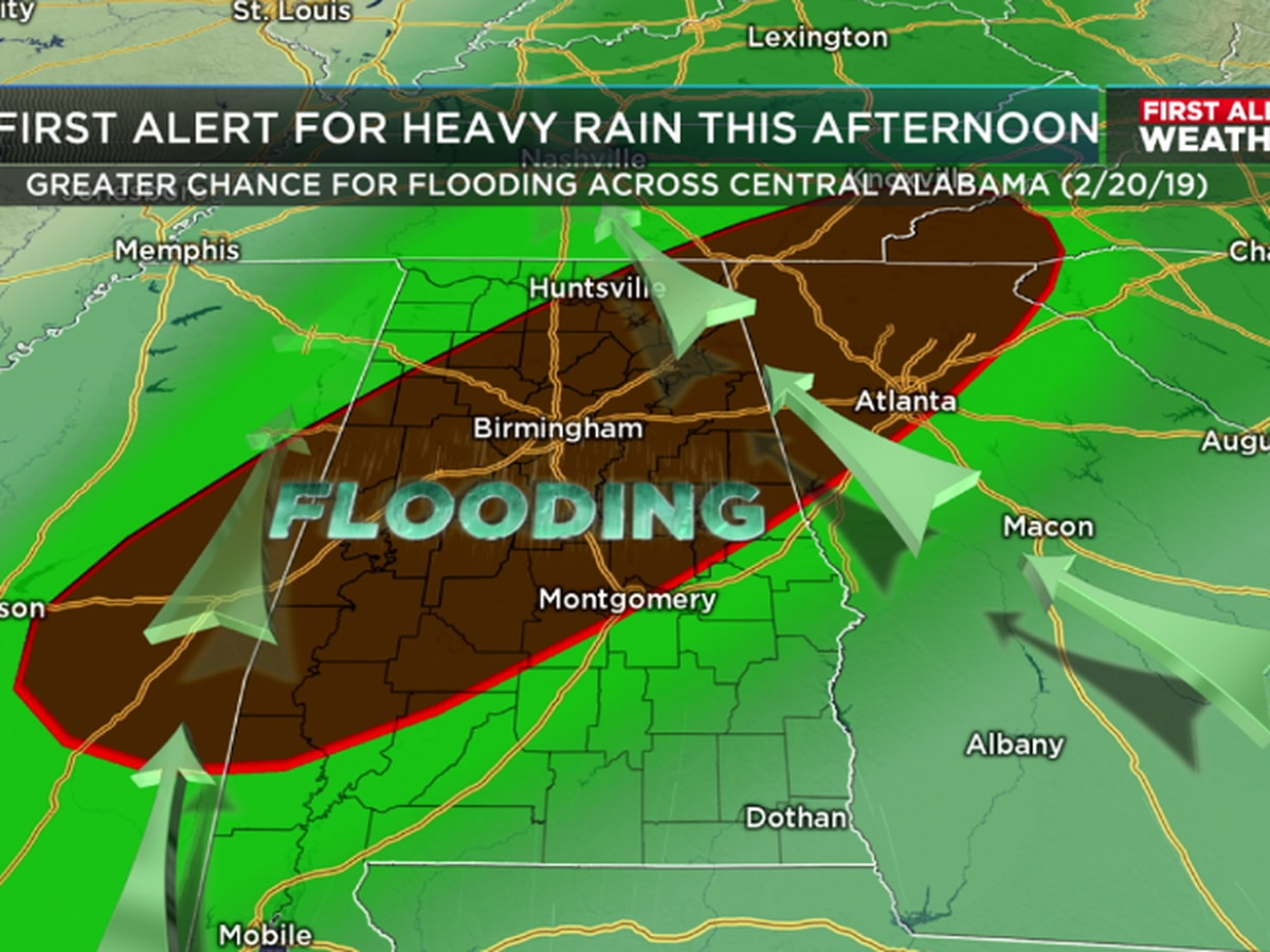 FIRST ALERT: More rain and potential strong storms Wednesday