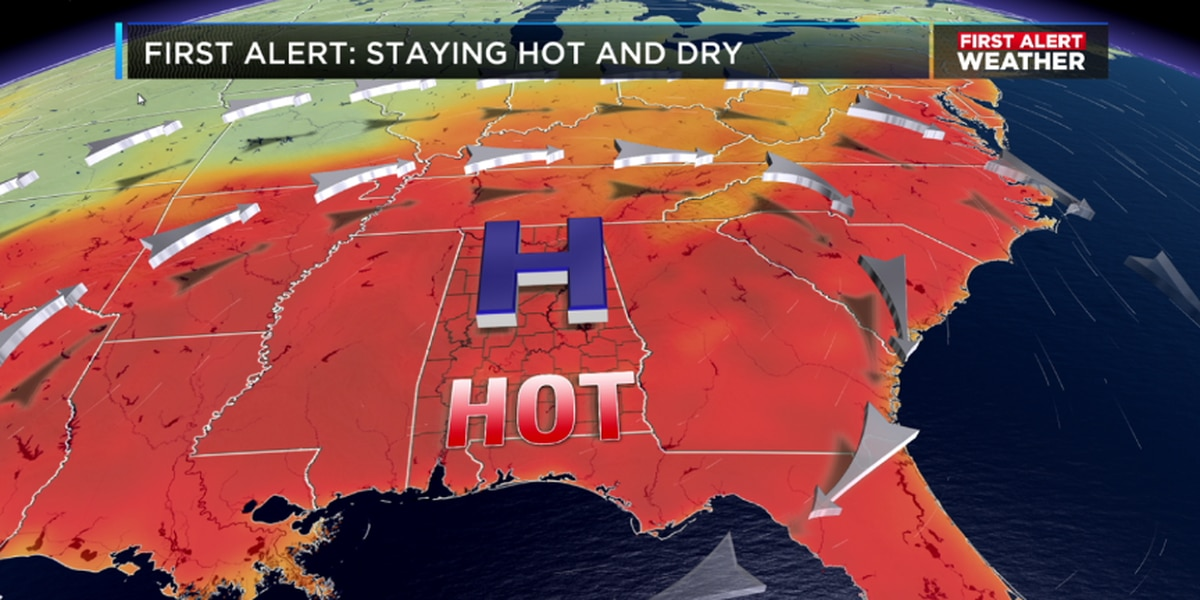 The hot weather pattern persists