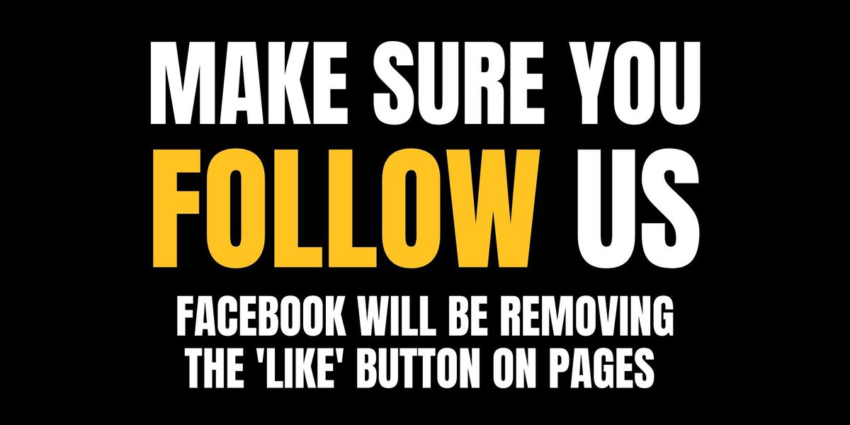 "Facebook removing ""like"" button on pages; use follow button for updates from WBRC FOX6 News"