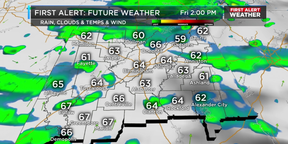 FIRST ALERT: The need for an umbrella increases Friday evening