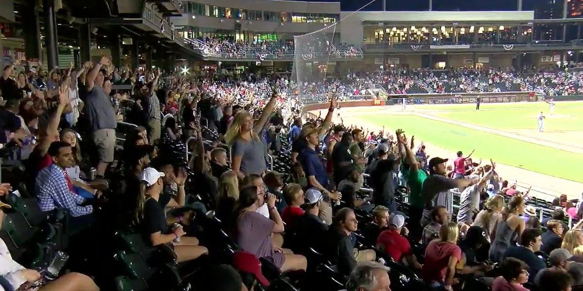 Barons start tradition of waving to Children's patients during 7th inning stretch