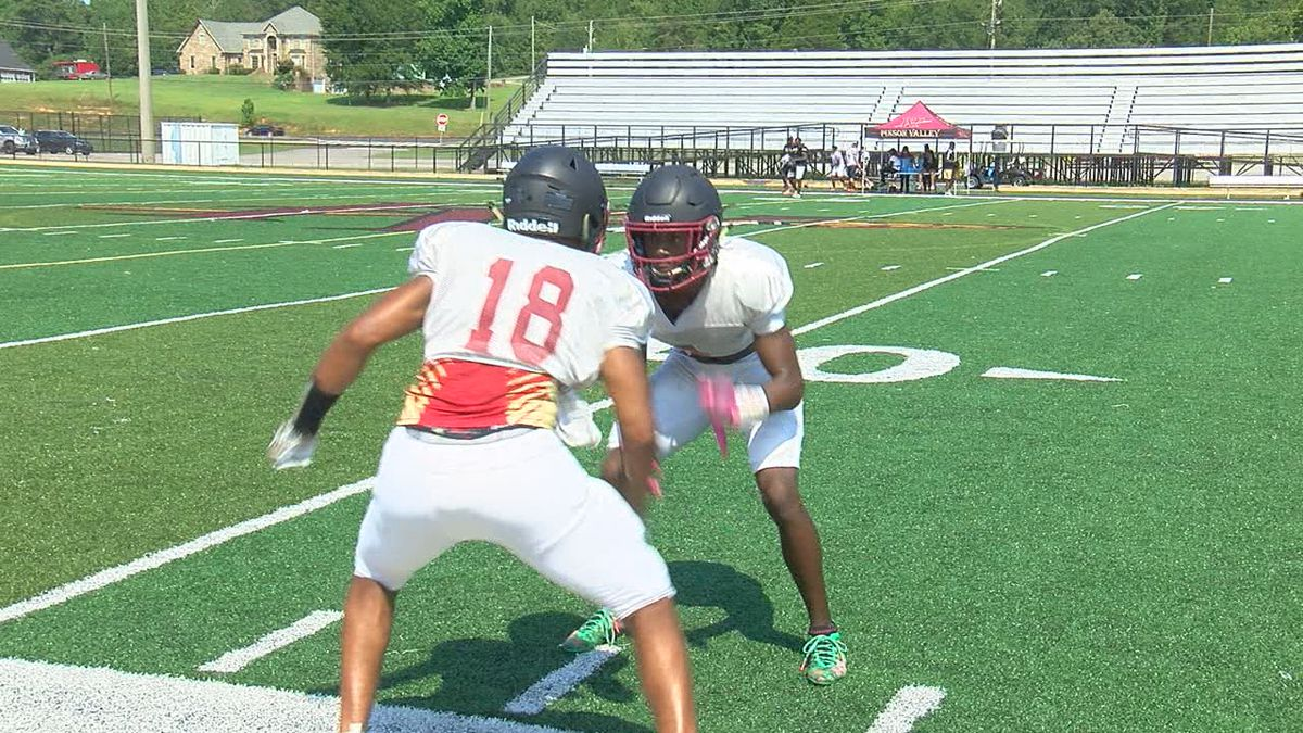 Pinson Valley practices in full pads Wednesday