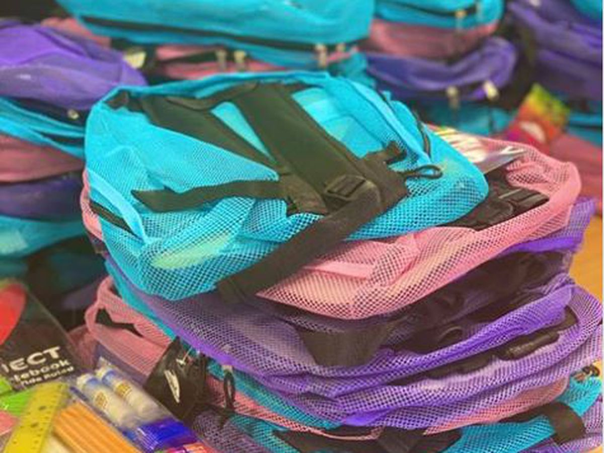 School supply and backpack giveaway
