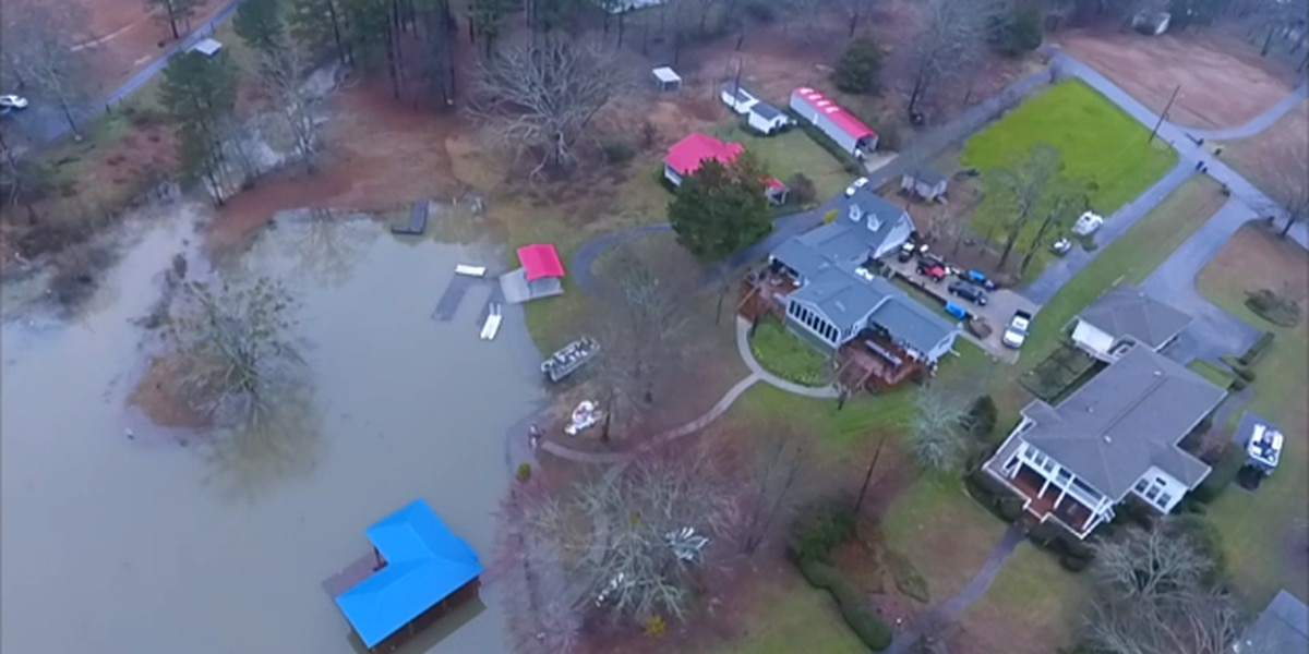 Water levels continue rising on Logan Martin Lake