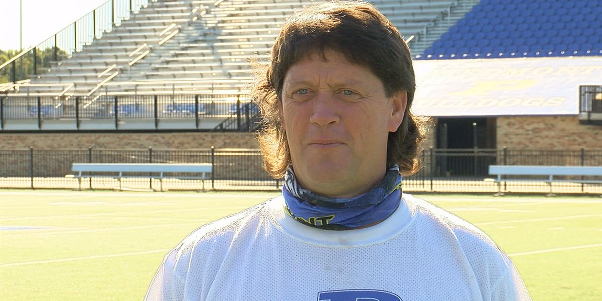 Piedmont football coach Steve Smith loses bet with team, grows mullet
