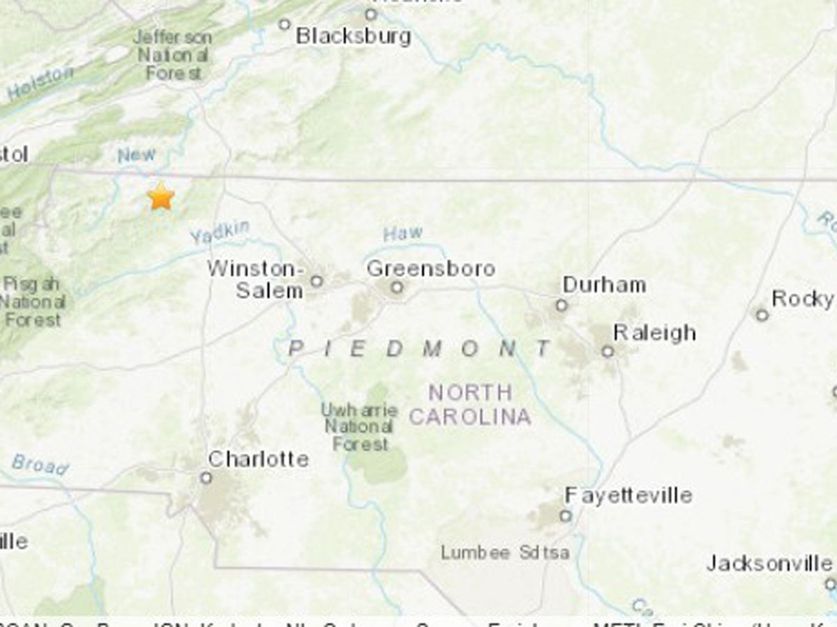 5.1-magnitude quake hits North Carolina, causes minor damage