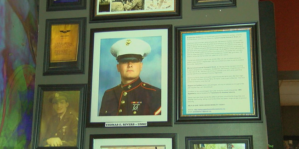 Wall at Chelsea restaurant dedicated to young marine killed serving our country