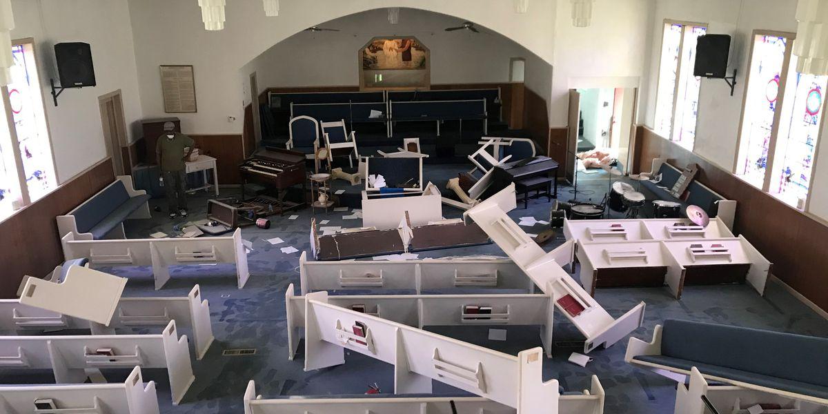 Vandals ravage Community Primitive Baptist Church in Ensley