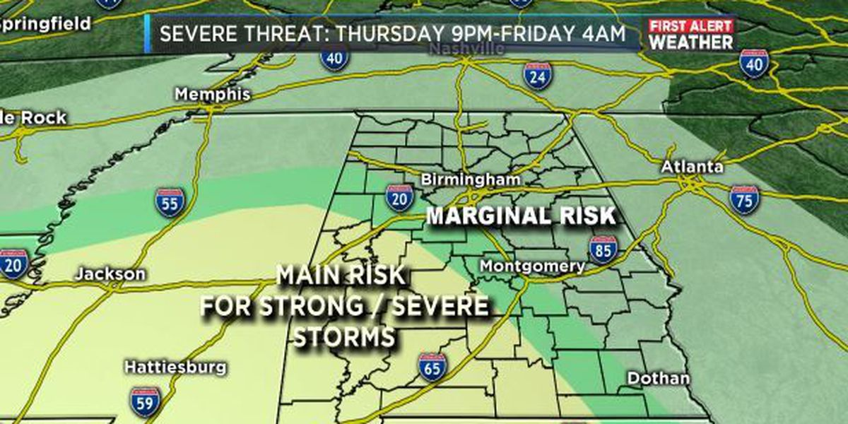 First Alert Update: Stormy weather possible Thursday night and a chance of snow Friday; More at 7 a.m.