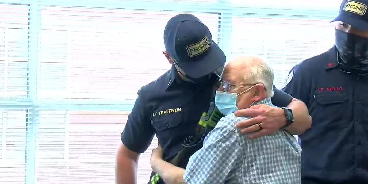Patient reunited with health heroes at Shelby Baptist