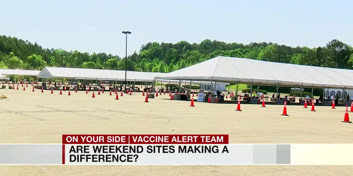 Weekend vaccinations sites expecting an increase