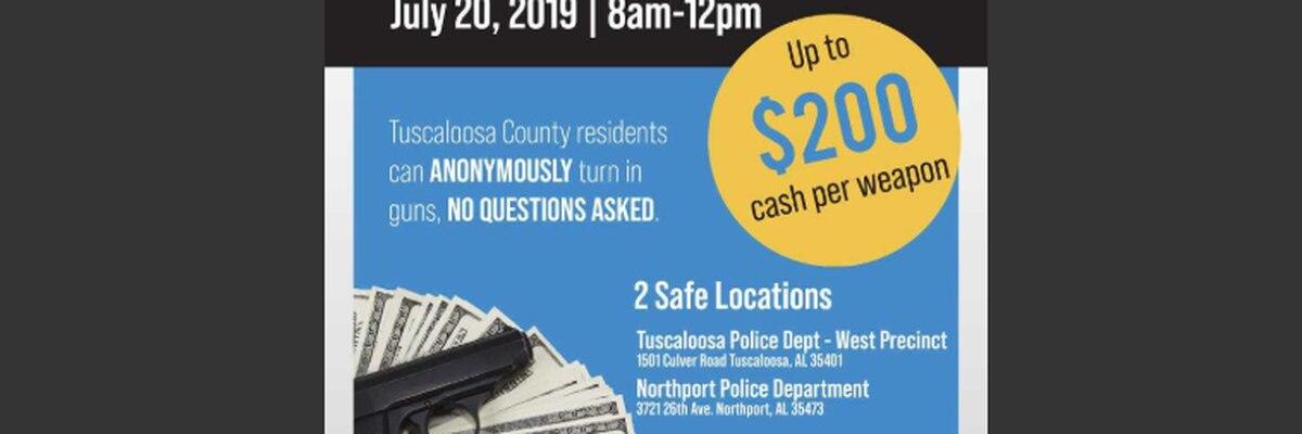 Tuscaloosa police hosting gun buyback